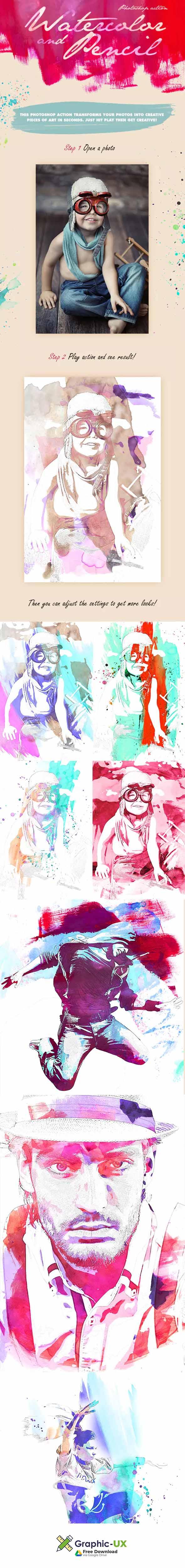 Pencil Sketch Art Photoshop Action Free Download