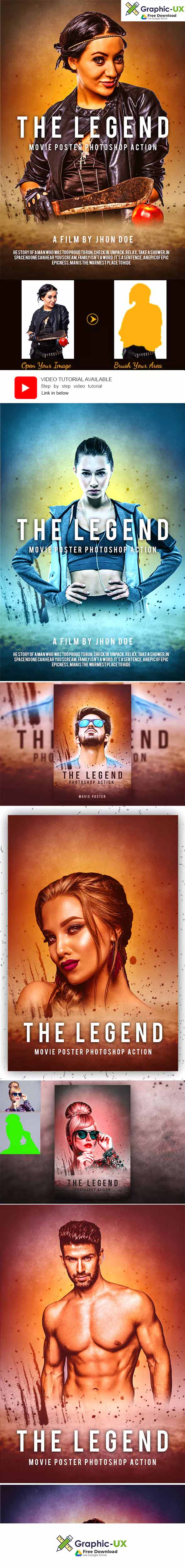The Legend Photoshop Action – GraphicUX
