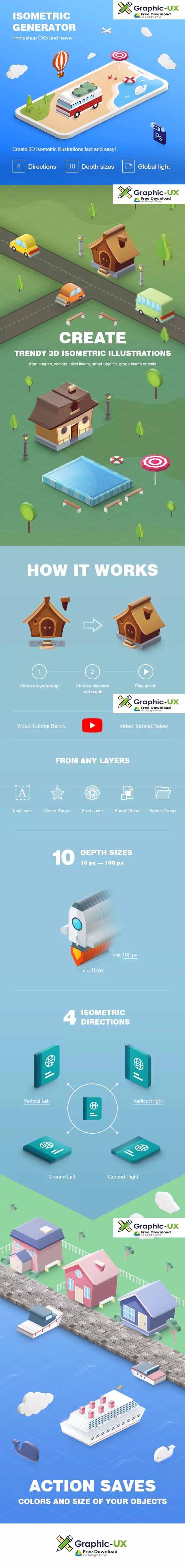 Isometric Illustration - 3D Generator free – GraphicUX