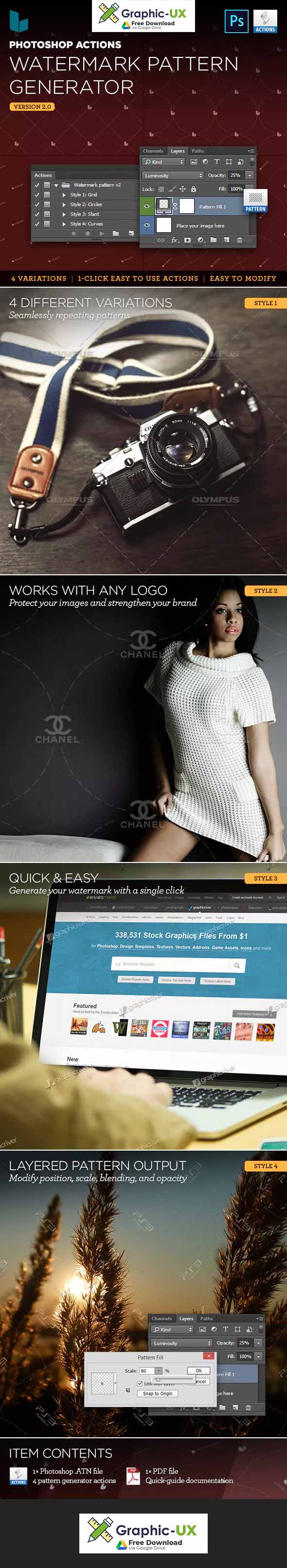 Photoshop Action Watermark Pattern Generator Free Graphicux