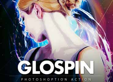 glospin photoshop action