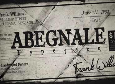 Abegnale Typeface free