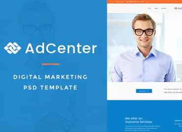 Adcenter - Digital Marketing PSD Template