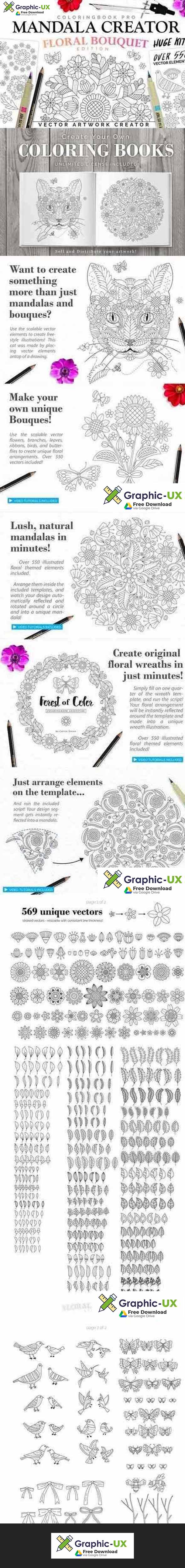 Floral Bouquet Mandala Creator free – GraphicUX