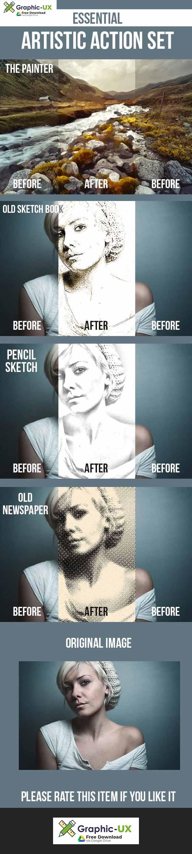 Pencil Sketch, Old Sketchbook, Painting, Newspaper