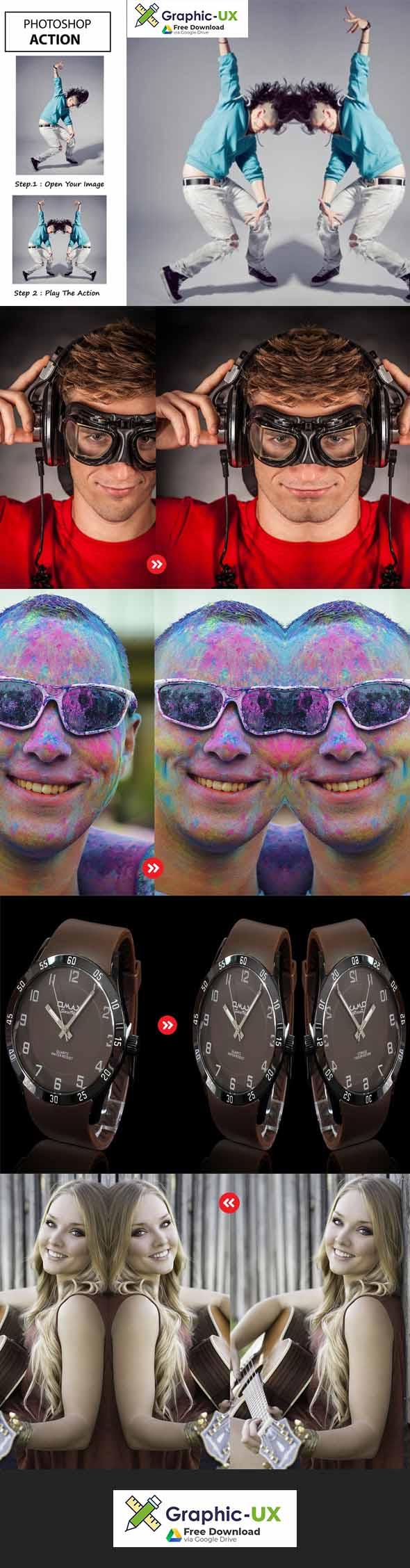 Mirror - Photoshop Action
