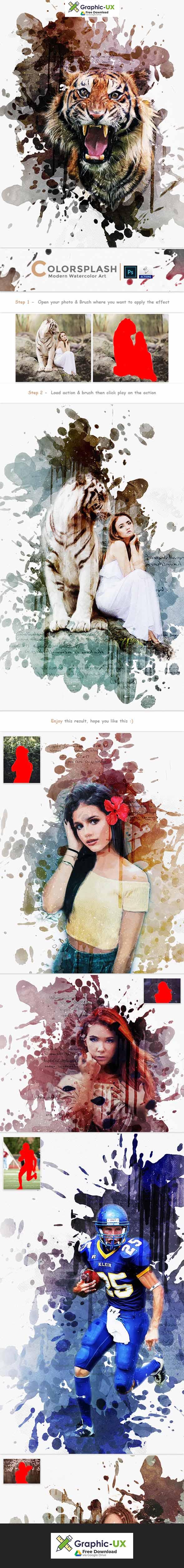 Colorsplash - Modern Watercolor Art | PS Action