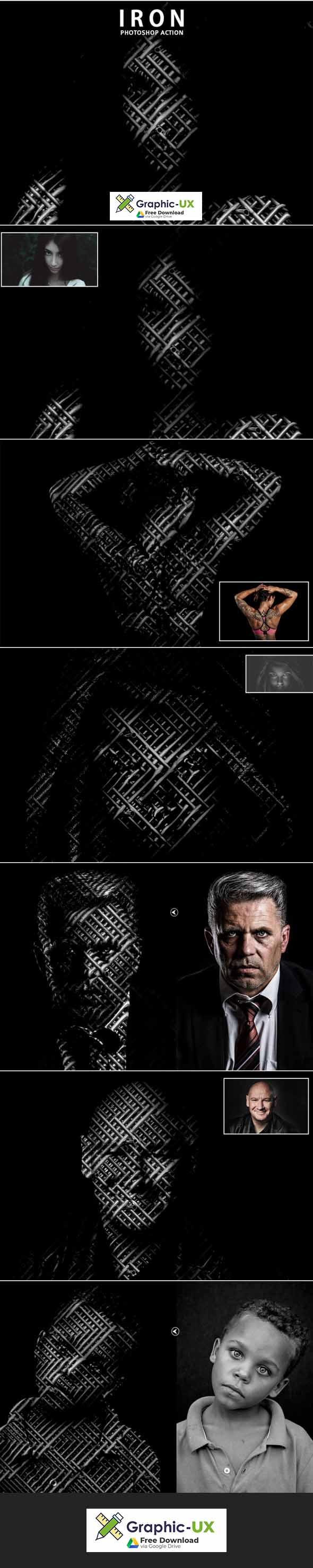 Iron Photoshop Actions