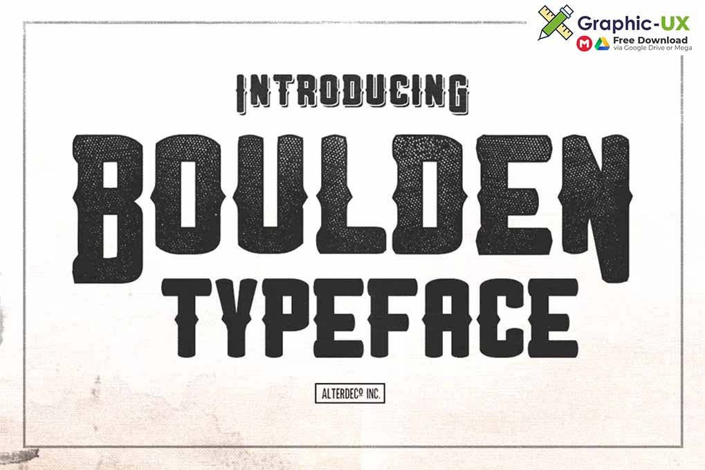 Boulden Typeface Font