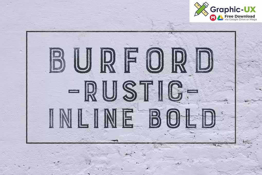 Burford Rustic Inline Bold font free – GraphicUX