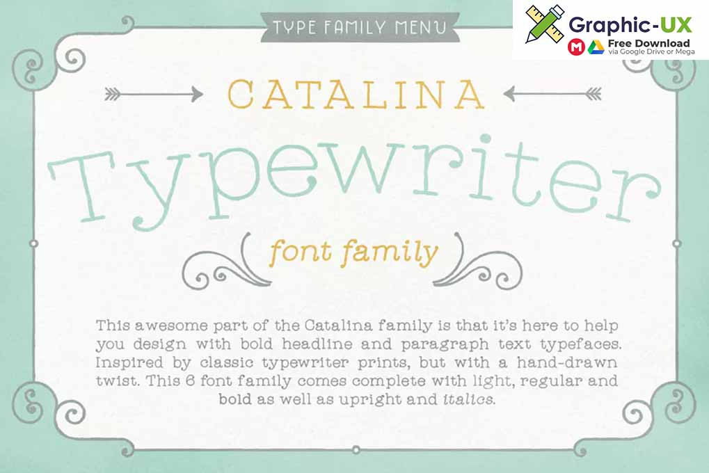 Catalina Typewriter font free – GraphicUX