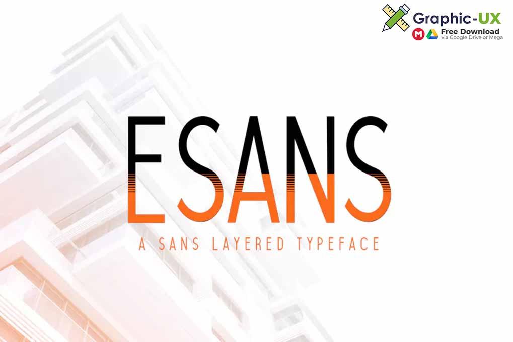 Esans Layered Font