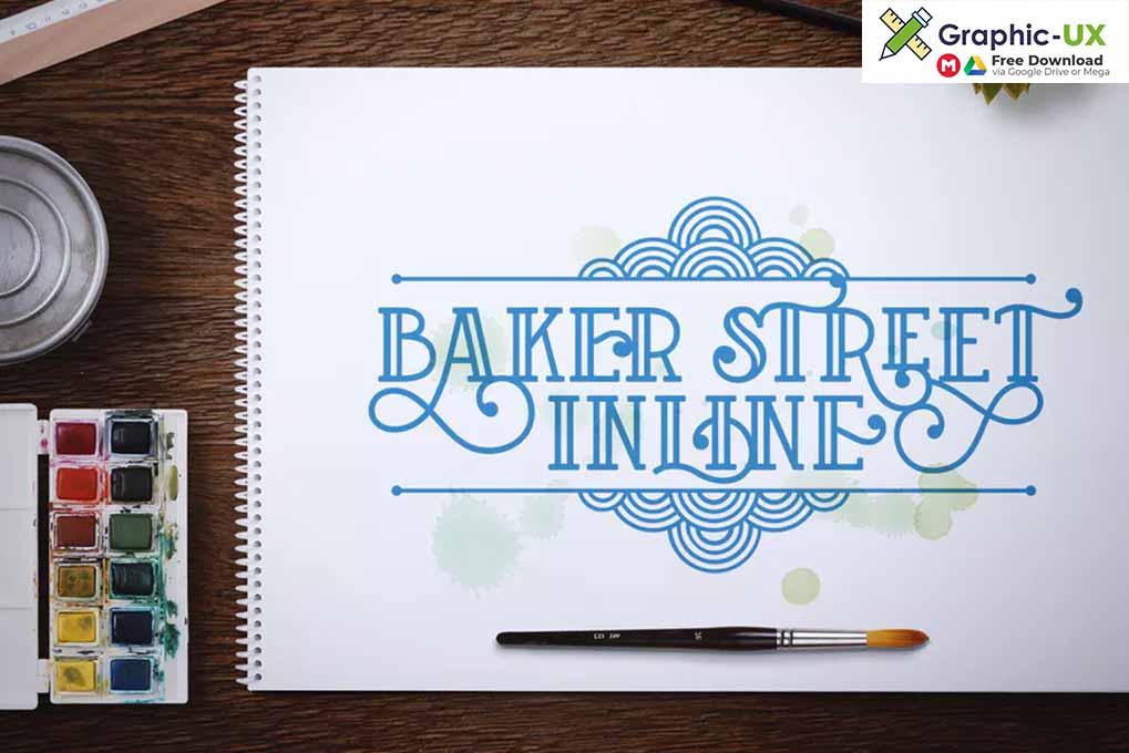 Baker Street Inline font