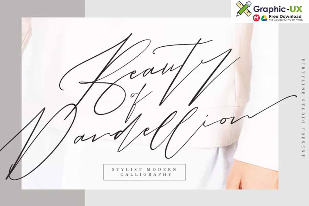 Beauty of Dandelion Script font