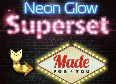 neon glow superset