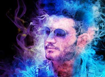 Amazing Colored Smoke Photoshop Action Vol 2