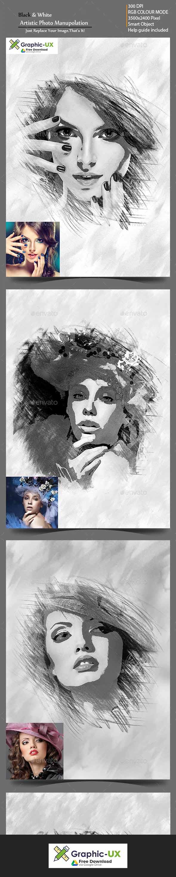 Black & White Artistic Photo Manuolation