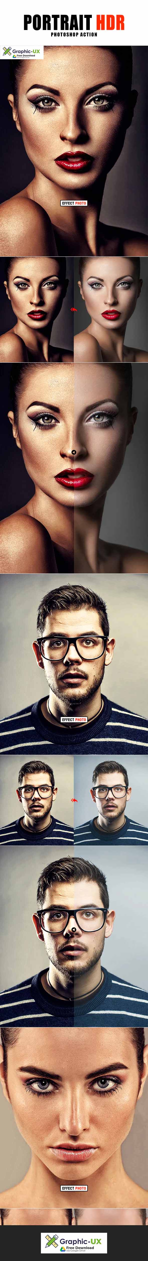Portrait Hdr Photoshop Action free – GraphicUX
