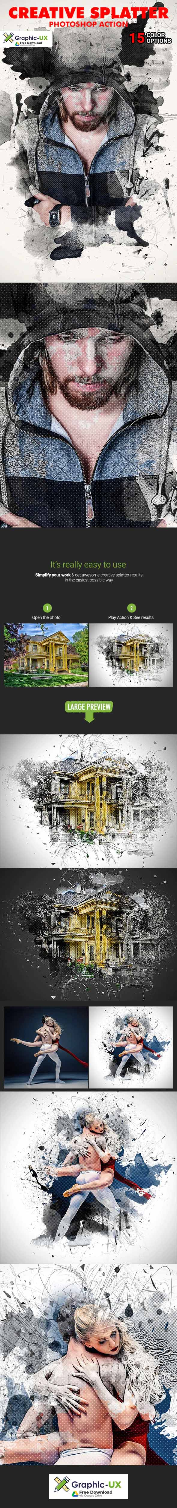 Creative Splatter Photoshop Action