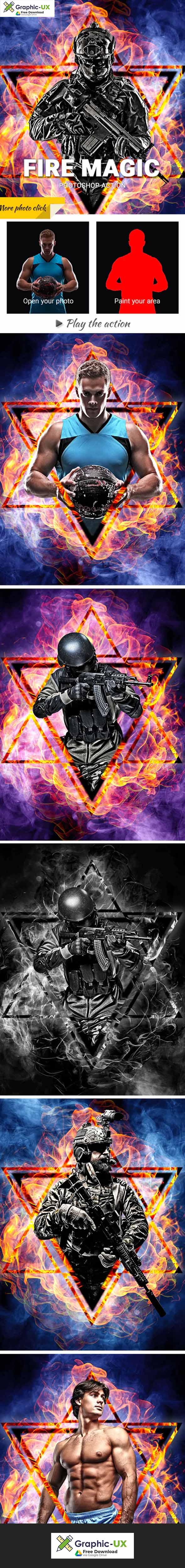 Fire Magic Photoshop Action