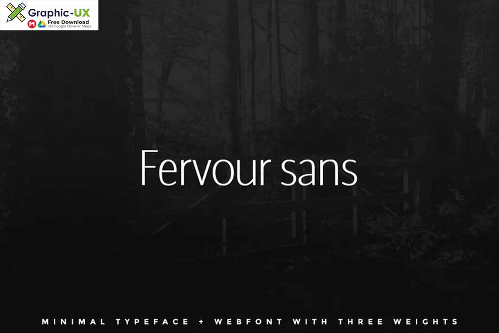 Fervour Sans Typeface + Web Fonts with 3 Weights