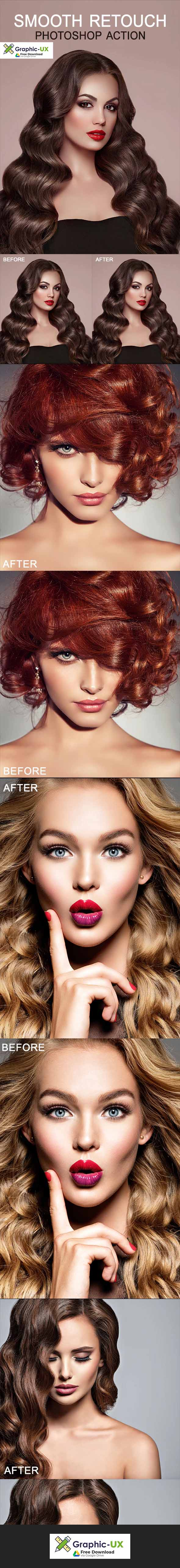 SMOOTH RETOUCH Photoshop Action
