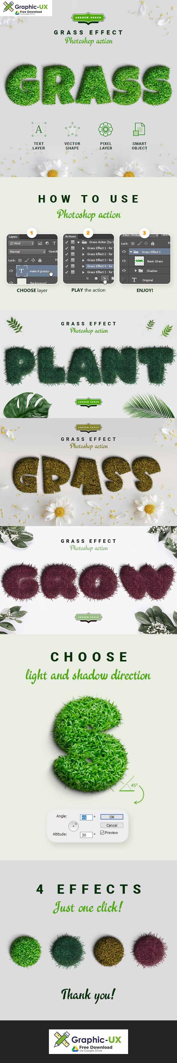 Grass Photoshop Action