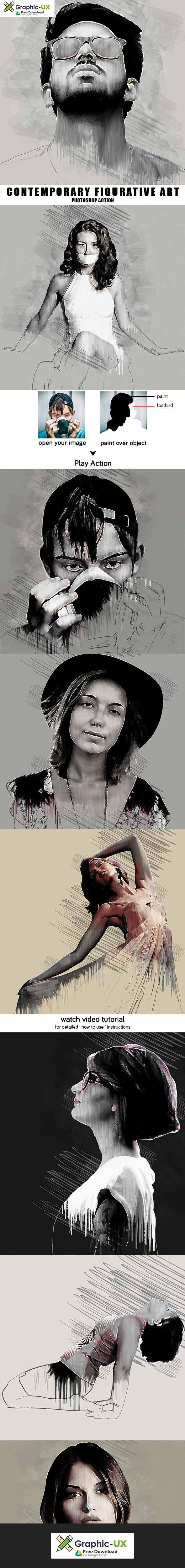 Contemporary Figurative Art - Photoshop Action