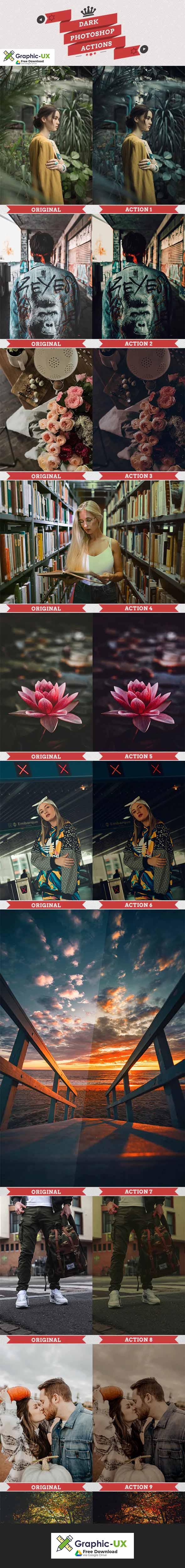25 Dark Photoshop Actions