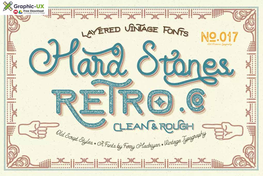 Hard Stones Family font