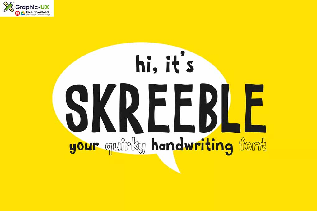 Skreeble - A Fun Sans Serif Font With Quirky Shape