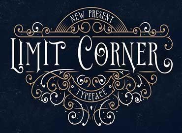 Limit Corner Typeface Font