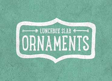 Lunchbox Slab Ornaments Font