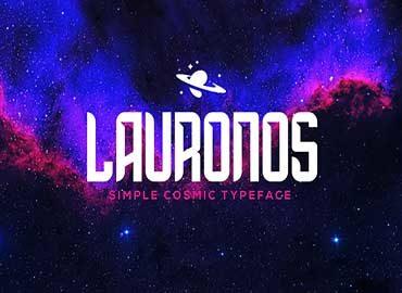 Lauronos typeface Font