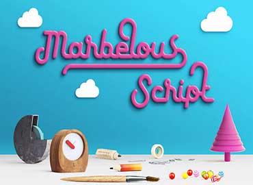 Marbelous Script Font