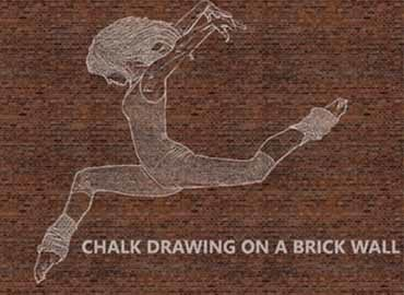 Chalk Drawing on Brick Wall – Ps Action