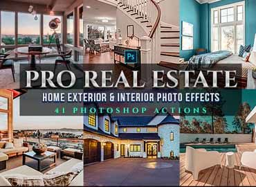 42 PRO Real Estate Photoshop Actions
