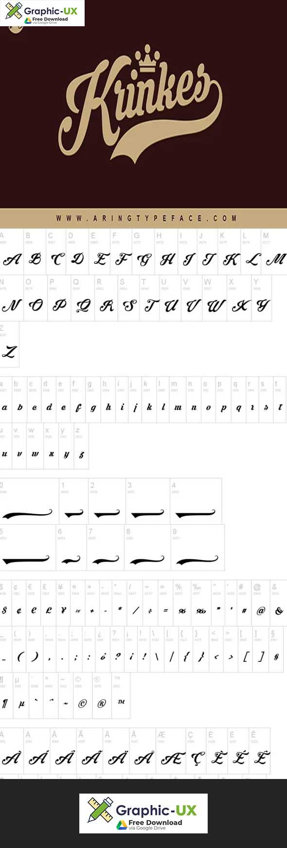 Krinkes Font