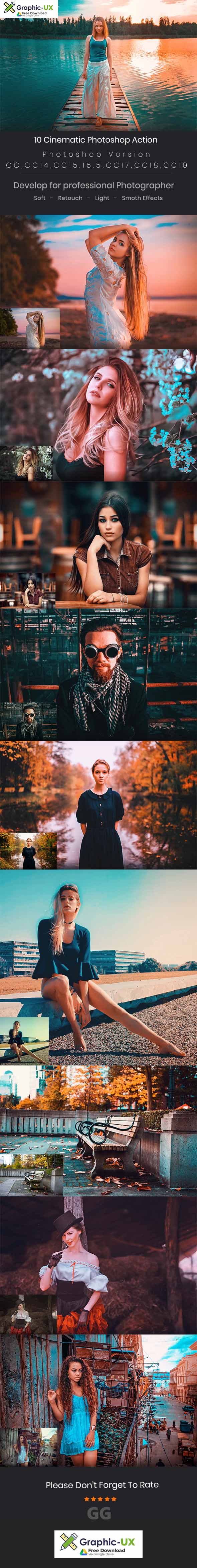 10 Cinematic Photoshop Action