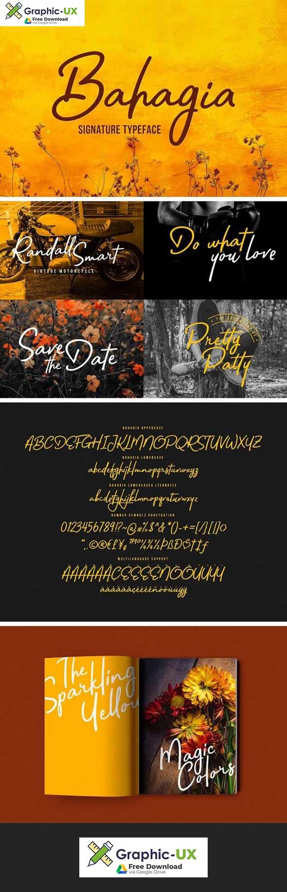 Bahagia Typeface font