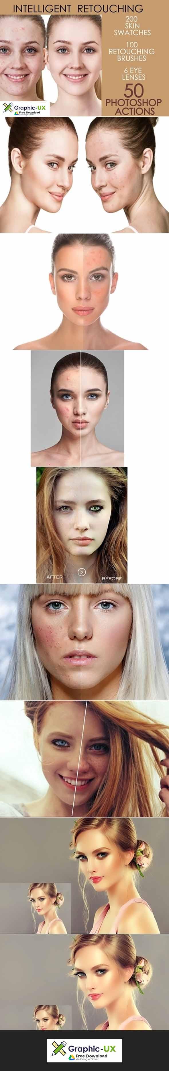 50 Photoshop Actions Retouching Skin
