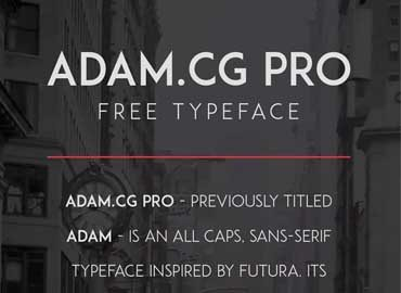 ADAM.CG PRO Font