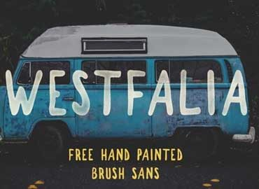 Westfalia Brush Font
