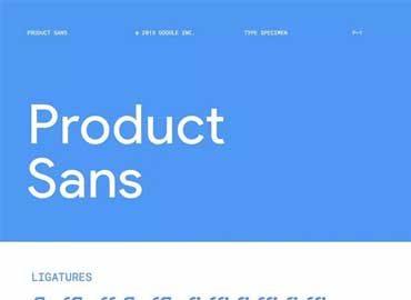 Product Sans Font Family