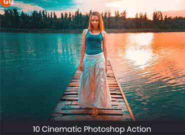 10 Cinematic Photoshop Action