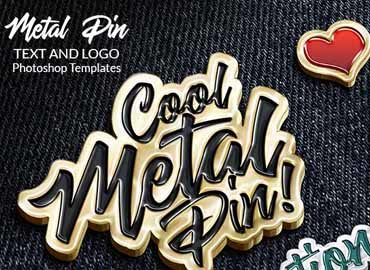 Metal Pin – Text and Logo Effect