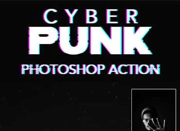 CyberPunk Effect - Photoshop Action