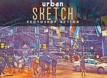Urban Sketch Photoshop Action