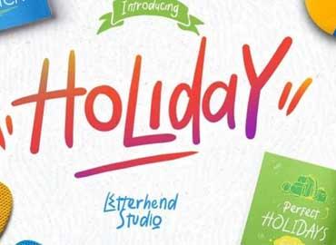 Holiday Script Font