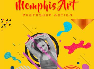 Memphis Art Photoshop Action